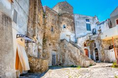 Houses in the old part of the medieval town royalty free stock image