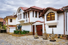 Houses in Old Plovdiv Royalty Free Stock Images