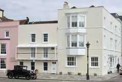 Houses in Old Portsmouth, Hampshire, England Royalty Free Stock Images