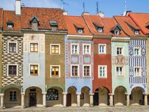 Houses of old Poznan Royalty Free Stock Image