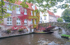 Houses in the old town of Bruges Stock Images