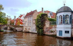 Houses in the old town of Bruges Royalty Free Stock Photo