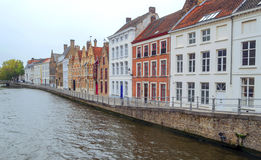 Houses in the old town of Bruges Royalty Free Stock Photos