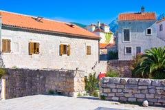 Houses in Old Town, Budva. Montenegro Stock Photo