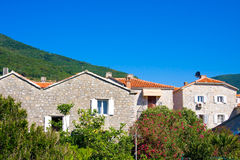 Houses in Old Town, Budva. Montenegro Stock Image