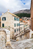 Houses in the old town of Dubrovnik Royalty Free Stock Photo