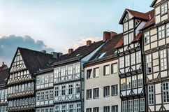 Houses in the old town of Hannover, Germany. Fronts of typical half-timbered houses in the old town of Hannover, Germany Royalty Free Stock Images