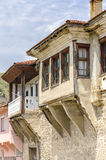 Houses in an old town in Macedonia. View on old town of Ohrid in Macedonia, Balkans Stock Photos