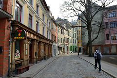 Houses in the Old Town of Riga Royalty Free Stock Photo