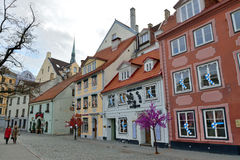 Houses in the Old Town of Riga Stock Images