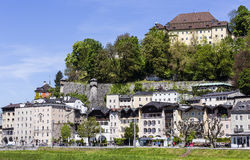 Houses in Old Town of Salzburg Royalty Free Stock Photography
