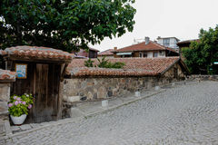 Houses of the old town of Sozopol, Bulgaria Stock Photos