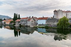 Old town Trebinje and river Trebisnjica. royalty free stock images