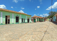 Houses in the old town, Trinidad, Cuba Royalty Free Stock Photo