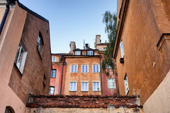 Houses in the Old Town of Warsaw Stock Images