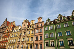 Houses in the Old Town of Wroclaw in Poland Stock Photos