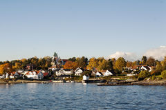 Free Houses On An Island In The Oslo Fjord Stock Photo - 45758740