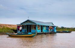 Free Houses On Stilts On Lake Tonle Sap Cambodia Royalty Free Stock Image - 25796466