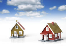Houses over white. Royalty Free Stock Photo
