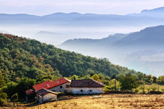 Houses in ozeka, in aiara valley Royalty Free Stock Photography