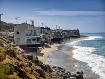 Houses at the Pacific Coast in California Royalty Free Stock Image