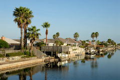 Houses on Padre Island, Texas USA Stock Images