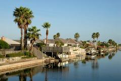 Houses on Padre Island, Texas USA Stock Images