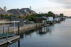 Houses on Padre Island, Texas USA Stock Photo