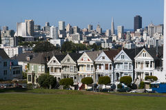 Houses of the painted ladies at summer time Stock Image