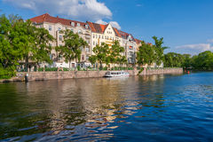 Houses and palaces in Berlin on the river bank Royalty Free Stock Photography