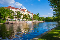 Houses and palaces in Berlin on the river bank Royalty Free Stock Photo