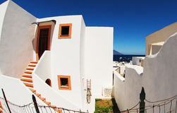 Houses on Panarea island Royalty Free Stock Images
