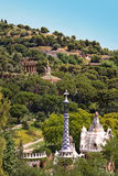 Houses in Park Guell by Antoni Gaudi Royalty Free Stock Photography