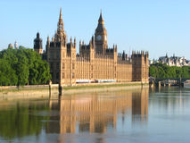Houses of parliament. View of westminster parliament and big ben Stock Photos