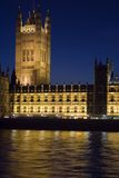 The Houses of Parliament. London at night Stock Photo