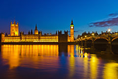Houses of Parliament. Big Ben and Houses of Parliament in London Stock Photography