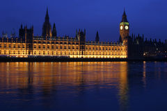 Houses of Parliament. At dusk Stock Image