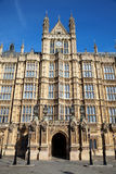 Houses of Parliament. Entrance door to Houses of Parliament, the home of British parliament Royalty Free Stock Photos