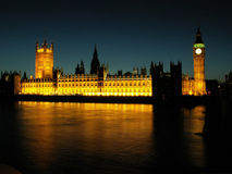 Houses of Parliament. Night-time shot of London's Houses of Parliament I took with 5 Mpix camera. Enjoy Royalty Free Stock Photos