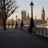 Houses of Parliament. View of the Houses of Parliament from the South Bank of the Thames Stock Photo