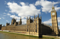 Houses of Parliament. The Houses of Parliament and Big Ben Royalty Free Stock Images