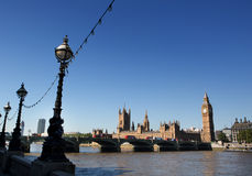 Houses of Parliament. In london by the river thames stock image