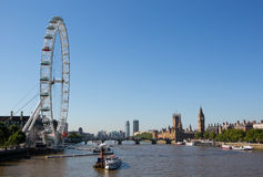 Houses of Parliament. In london by the river thames royalty free stock image