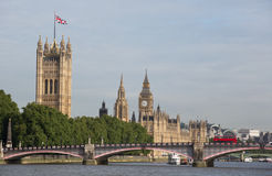 Houses of parliament. The london houses of parliament with lambeth bridge royalty free stock photos