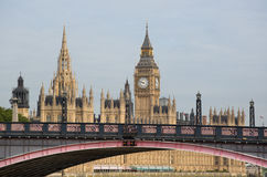 Houses of Parliament. With lambeth bridge in view royalty free stock images