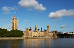 Houses of Parliament. Wide angel of the houses of parliament in westmister royalty free stock image