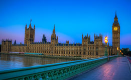 Houses of Parliament. Taken from Westminster Bridge Royalty Free Stock Image