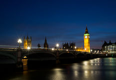 Houses of Parliament. Big Ben and the houses of parliament on the river thames Royalty Free Stock Photography