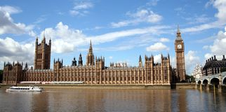 Houses of Parliament. On the Thames, London Stock Photography