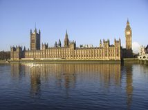 Houses of Parliament. View across the Thames to the home of democracy Stock Photo